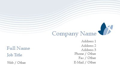 White and Blue Dove Religious Business Card Template